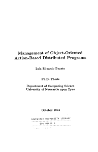 Management of Object-Oriented Action