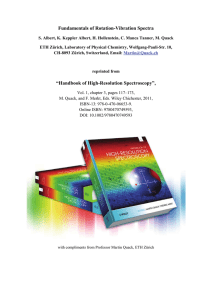 """Fundamentals of Rotation--Vibration Spectra"" in"