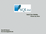SQLite - Introduction