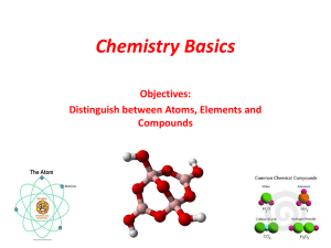 Chemistry Basics - Mr. Fiala`s Science Classes Earth Science