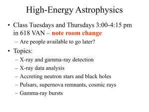 High-Energy Astrophysics - University of Iowa Astrophysics