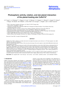 Photospheric activity, rotation, and star