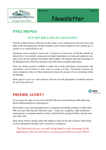 PNEUMONIA IT`S NOT TOO LATE TO VACCINATE!! With the
