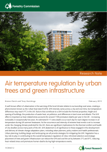 Air temperature regulation by urban trees and green infrastructure