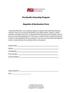 Hepatitis B declination form - Office of Clinical Partnerships