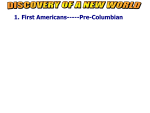 First Americans-----Pre