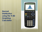 Normal Distribution using the TI