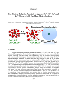 Chapter 6 One-Electron Reduction Potentials of Aqueous Co2+