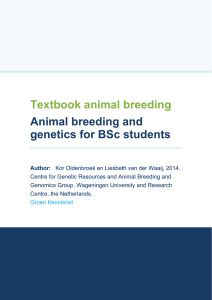Textbook animal breeding Animal breeding and genetics for