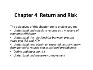 4. Return And Risk