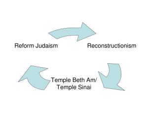 Reconstructionism Reform Judaism Temple Beth Am/ Temple Sinai
