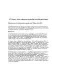 27th Plenary of the Intergovernmental Panel on Climate Change