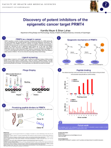 Discovery of potent inhibitors of the epigenetic cancer target PRMT4