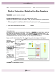 Modeling One-Step Equations