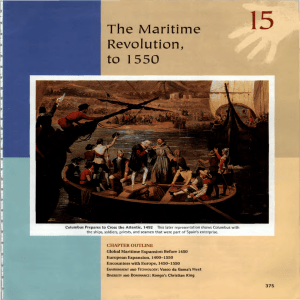 Chapter 15- Maritime Revolution to 1550