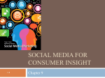 Social media for consumer insight