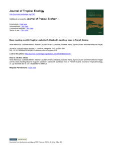 Journal of Tropical Ecology - CESCO