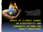Impact of Climate Change on Biodiversity And Community Actions