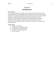 Chapter 3 Stoichiometry