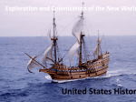 Exploration and Colonization of the New World United States History