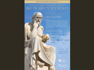 The Death of Socrates - Center for Philosophy of Religion