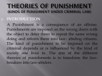 Theories of Punishment (kinds of Punishment under Criminal Law)