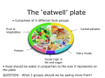 The Eatwell Plate - Sir Thomas Boughey High School
