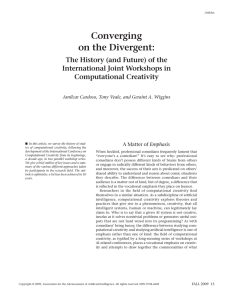 Converging on the Divergent: - Computational Creativity Group