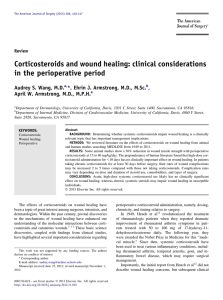 Corticosteroids and wound healing