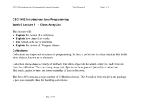 CSCI1402 Introductory Java Programming