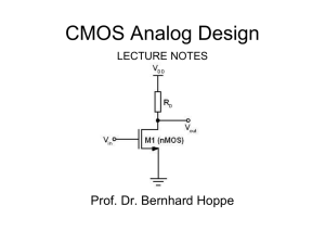 CMOS Analog Design Lecture Notes Rev 1.5L_02_06_11