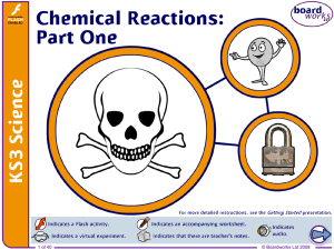 Chemical Reactions (Part One)