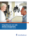 Integrating eye care with disease management