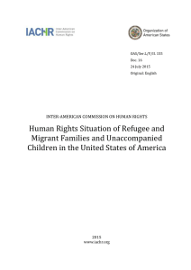 Human Rights Situation of Refugee and Migrant Families and