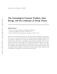 The Cosmological Constant Problem, Dark Energy, and the