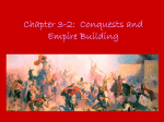Chapter 3-2: Conquests and Empire Building