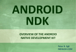 Android NDK – Native Development Kit