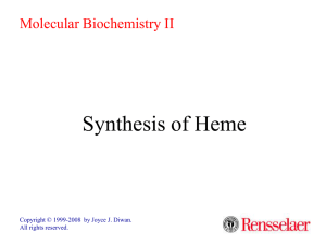 Synthesis of Heme