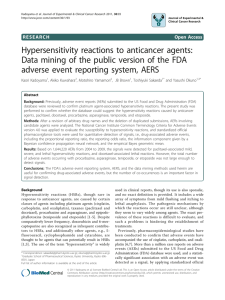 Hypersensitivity reactions to anticancer agents: Data mining of the