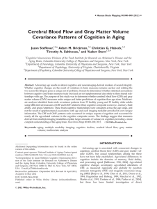 Cerebral blood flow and gray matter volume covariance patterns of