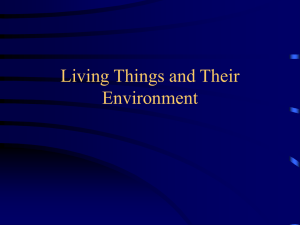 Living Things and Their Environment