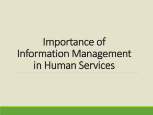 Importance of Information Management in Human Services
