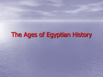 The Ages of Egyptian history