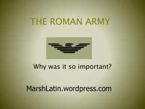 the roman army - WordPress.com