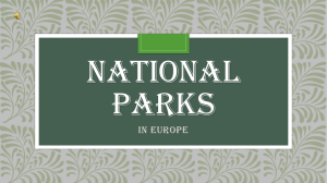 National parks - YPEF Young People in European Forests