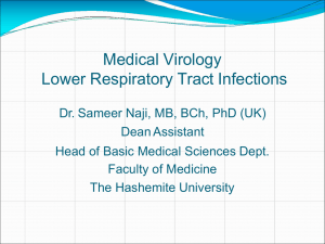 Medical Virology Lower Respiratory Tract Infections