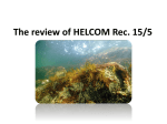 The HELCOM Rec. 15/5 HELCOM Network of Marine Protected Areas