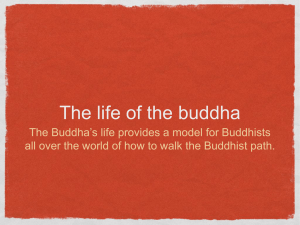Life of the Buddha - College of the Holy Cross