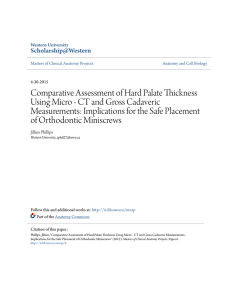 Comparative Assessment of Hard Palate Thickness Using Micro