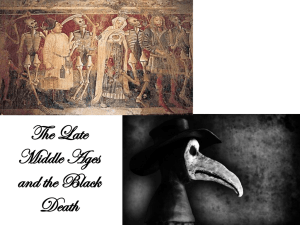 The Late Middle Ages and the Black Death